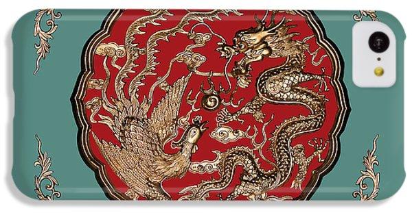 Dragon iPhone 5c Case - Dragon And Phoenix by Kristin Elmquist