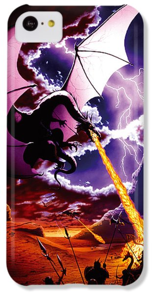 Fantasy iPhone 5c Case - Dragon Attack by The Dragon Chronicles - Steve Re