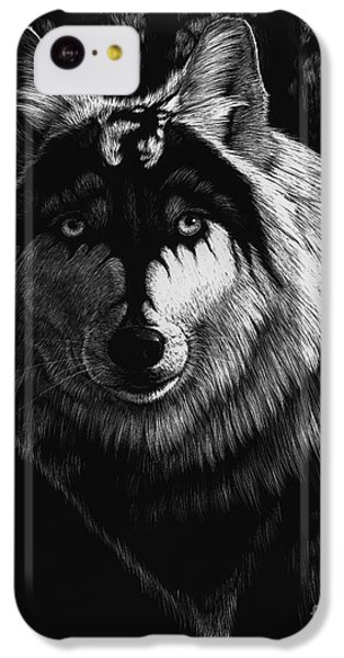 Dragon iPhone 5c Case - Dragon Wolf by Stanley Morrison