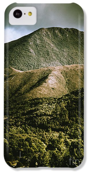 Mount Rushmore iPhone 5c Case - Dramatic View On Mount Zeehan Against Stormy Cloud by Jorgo Photography - Wall Art Gallery