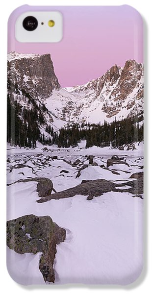 IPhone 5c Case featuring the photograph Dream Lake Winter Vertical by Aaron Spong