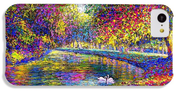 Drifting Beauties, Swans, Colorful Modern Impressionism IPhone 5c Case