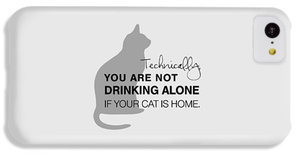 Cat iPhone 5c Case - Drinking With Cats by Nancy Ingersoll
