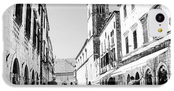 #dubrovnik #b&w #edit IPhone 5c Case by Alan Khalfin