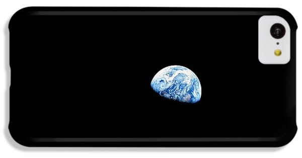 Astronauts iPhone 5c Case - Earthrise Over Moon, Apollo 8 by Nasa