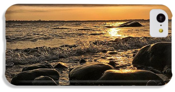 Ocean Sunset iPhone 5c Case - East Coast Sunset 1 by Christine Sharp