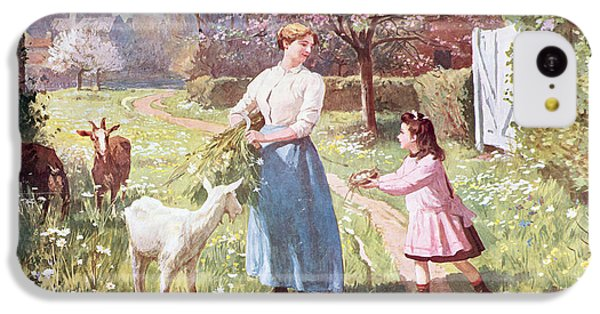 Easter Eggs In The Country IPhone 5c Case by Victor Gabriel Gilbert