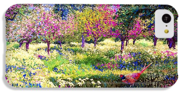Pheasant iPhone 5c Case - Echoes From Heaven, Spring Orchard Blossom And Pheasant by Jane Small