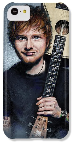 Folk Art iPhone 5c Case - Ed Sheeran by Andre Koekemoer