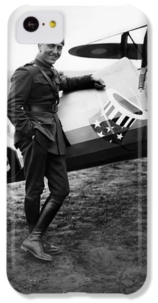 Airplane iPhone 5c Case - Eddie Rickenbacker - Ww1 American Air Ace by War Is Hell Store