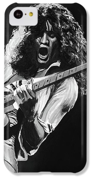 Eddie Van Halen - Black And White IPhone 5c Case by Tom Carlton