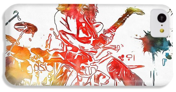Eddie Van Halen Paint Splatter IPhone 5c Case by Dan Sproul
