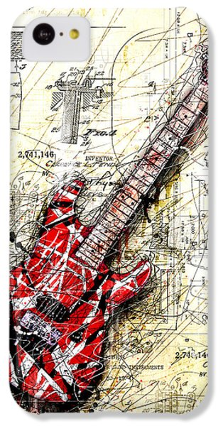 Guitar iPhone 5c Case - Eddie's Guitar 3 by Gary Bodnar