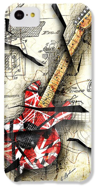 Abstract iPhone 5c Case - Eddie's Guitar by Gary Bodnar