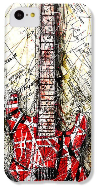 Eddie's Guitar Vert 1a IPhone 5c Case by Gary Bodnar