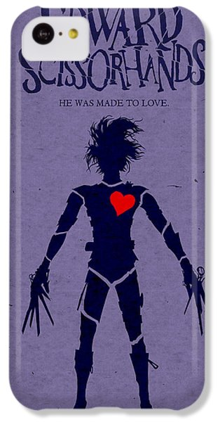Edward Scissorhands Alternative Poster IPhone 5c Case by Christopher Ables