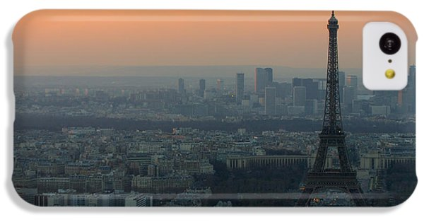 Eiffel Tower At Dusk IPhone 5c Case by Sebastian Musial