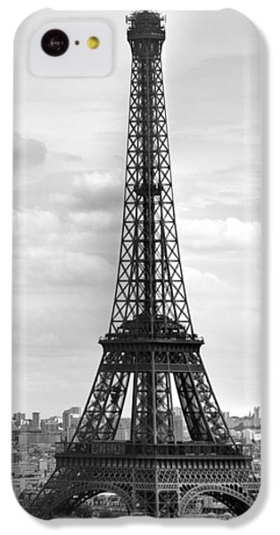 Eiffel Tower Black And White IPhone 5c Case by Melanie Viola