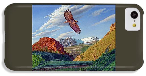 Hawk iPhone 5c Case - Electric Peak With Hawk by Paul Krapf