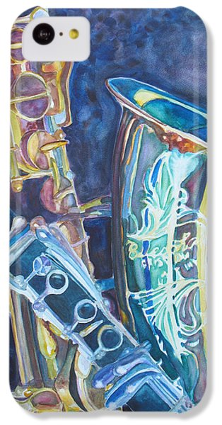 Saxophone iPhone 5c Case - Electric Reeds by Jenny Armitage