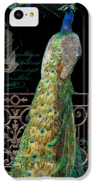 Elegant Peacock Iron Fence W Vintage Scrolls 4 IPhone 5c Case