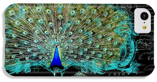 Elegant Peacock W Vintage Scrolls 3 IPhone 5c Case
