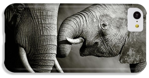 Small iPhone 5c Case - Elephant Affection by Johan Swanepoel