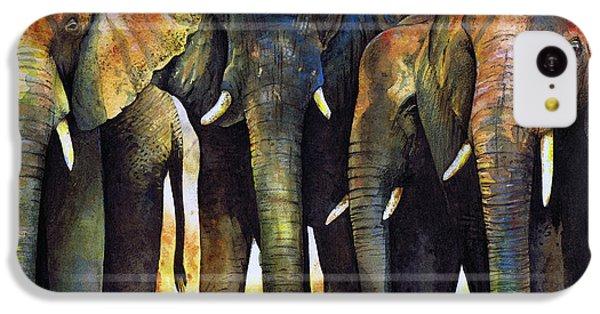 Elephant Herd IPhone 5c Case