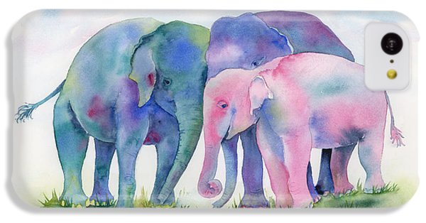 Elephant Hug IPhone 5c Case by Amy Kirkpatrick