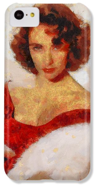 Elizabeth Taylor iPhone 5c Case - Elizabeth Taylor Actress by Esoterica Art Agency