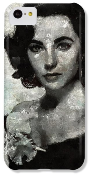 Elizabeth Taylor iPhone 5c Case - Elizabeth Taylor by Mary Bassett