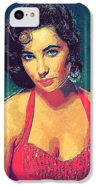 Elizabeth Taylor IPhone 5c Case by Taylan Apukovska