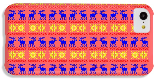 Elk Pattern Changeable Background  IPhone 5c Case by Sebastien Coell