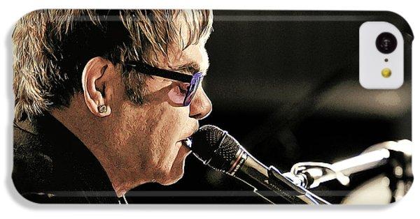 Elton John At The Mic IPhone 5c Case by Elaine Plesser