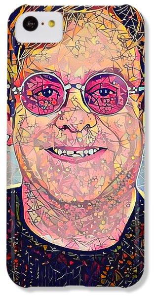 Elton John Triangles Portrait IPhone 5c Case by Yury Malkov