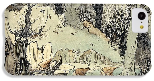 Elves In A Wood IPhone 5c Case by Arthur Rackham