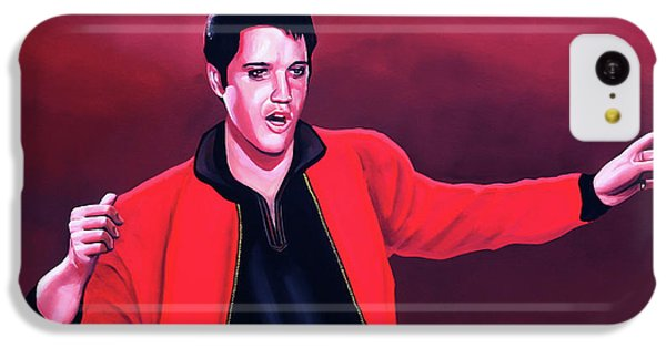 Elvis Presley 4 Painting IPhone 5c Case by Paul Meijering