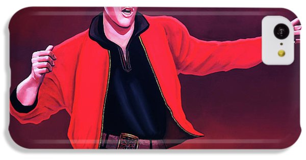 Rhythm And Blues iPhone 5c Case - Elvis Presley 4 Painting by Paul Meijering