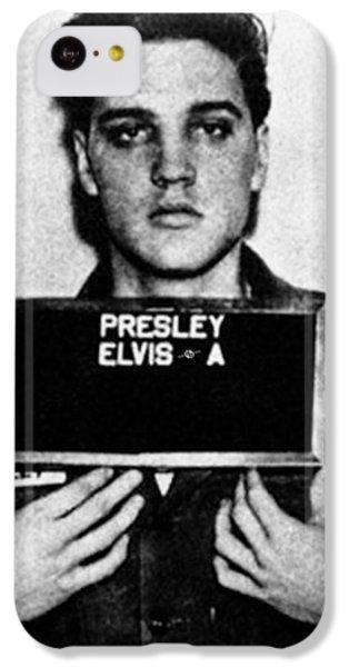 Elvis Presley iPhone 5c Case - Elvis Presley Mug Shot Vertical 1 by Tony Rubino