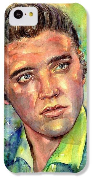 Elvis Presley iPhone 5c Case - Elvis Presley Watercolor by Suzann's Art