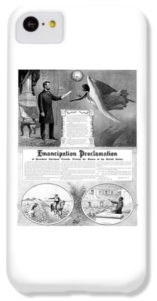 Abraham Lincoln iPhone 5c Case - Emancipation Proclamation by War Is Hell Store