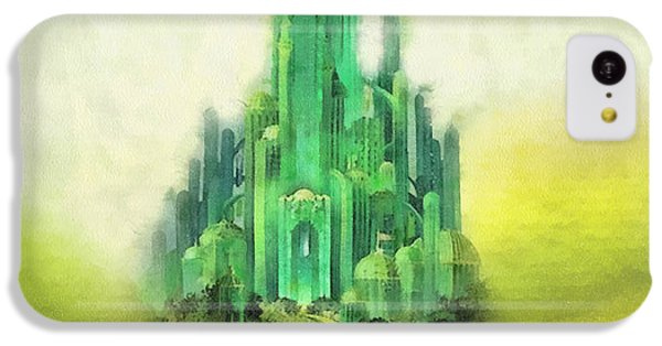 Wizard iPhone 5c Case - Emerald City by Mo T