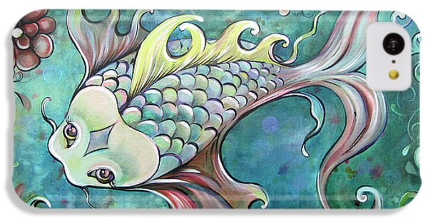 Emerald Koi IPhone 5c Case by Shadia Derbyshire