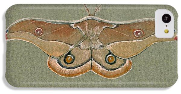 Hawk iPhone 5c Case - Emperor Gum Moth by Juan Bosco