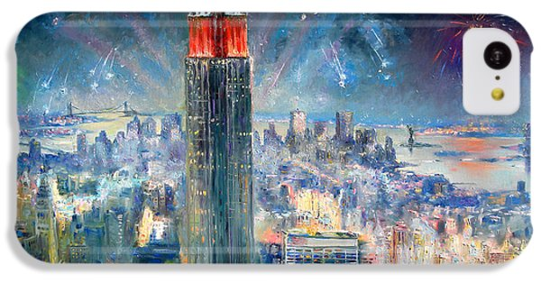 Empire State Building In 4th Of July IPhone 5c Case by Ylli Haruni