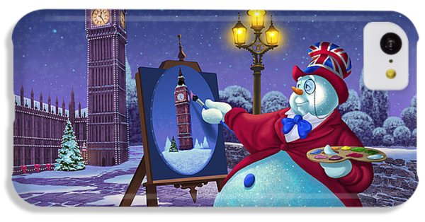 Big Ben iPhone 5c Case - English Snowman by Michael Humphries