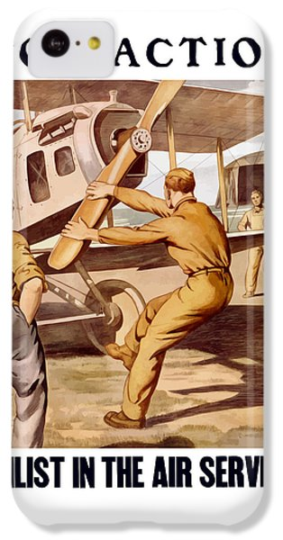 Enlist In The Air Service IPhone 5c Case by War Is Hell Store