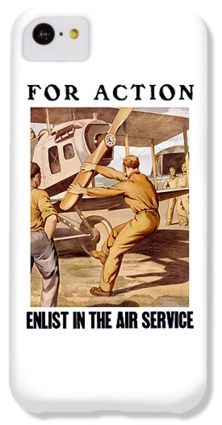 Airplane iPhone 5c Case - Enlist In The Air Service by War Is Hell Store