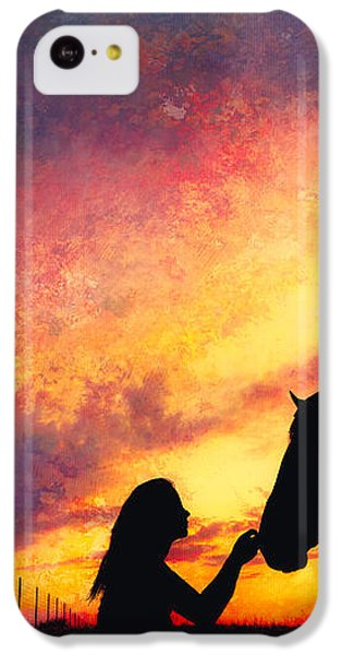 Equine Sunset IPhone 5c Case by Debi Bishop
