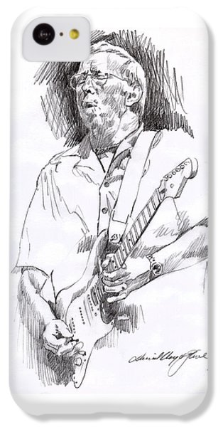 Eric Clapton Blue IPhone 5c Case by David Lloyd Glover